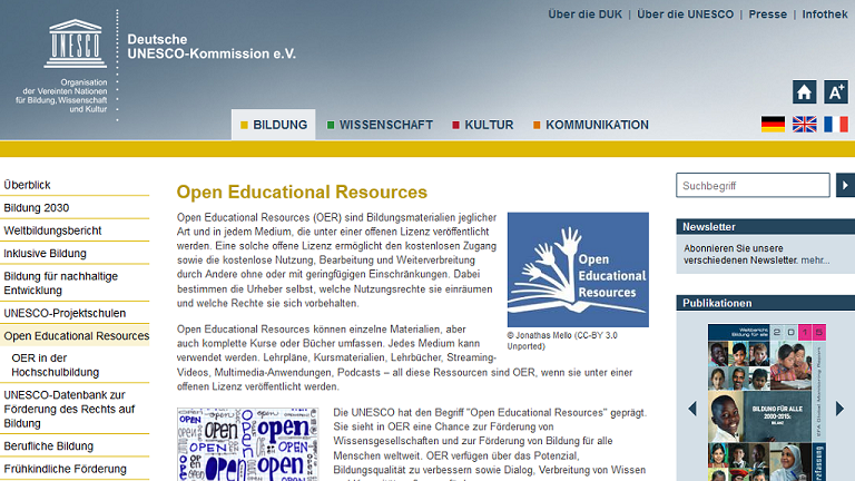 UNESCO: Open Educational Resources (19.5.2016)